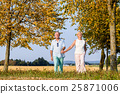 Senior couple, woman and man, having walk 25871006