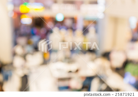Abstract blurred background of Department store 25871921