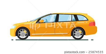 Universal citycar isolated on white background 25874535