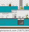 kitchen, interior, equipment 25875289