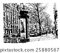Boulevard in Paris 25880567