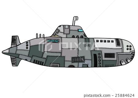 Doodle Sketch Submarine 25884624