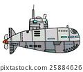 Doodle Sketch Submarine 25884626