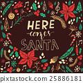 Christmas card with fir tree 25886181