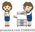 เหมาะกับพนักงาน บริษัท หญิง·เครื่องถ่ายเอกสาร 2 25888508