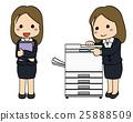 เหมาะกับพนักงาน บริษัท หญิง·เครื่องถ่ายเอกสาร 3 25888509
