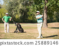 Two friends playing golf 25889146