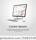vector, desktop, computer 25892538