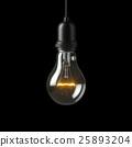 Lamp light bulb. 3D illustration 25893204