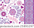 Set of vintage floral seamless pattern and border 25893297