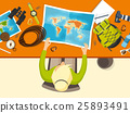 Travel and tourism. Flat style. World, earth map 25893491
