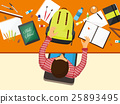 Back to school flat background. Online education 25893495