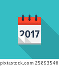 Flat calendar icon. Date and time background. New 25893546