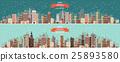 Vector illustration. Winter urban landscape. City 25893580