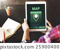 Map Destination Location GPS Concept 25900400