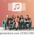Music Note Entertainment Audio Graphic Concept 25901789