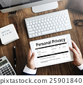 Personal Privacy Information Data Application Form Concept 25901840
