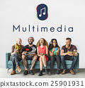 Music Note Entertainment Audio Graphic Concept 25901931
