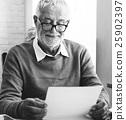 adult, letter, reading 25902397