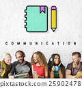 Notebook Pencil Write Communication Graphic Concept 25902478