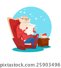 Santa Claus Read Merry Christmas Wish List New 25903496
