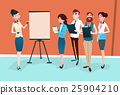 Business People Group Presentation Flip Chart 25904210