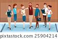 Cartoon Business People Group Team Businesspeople 25904214