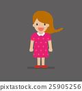 Cute cartoon girl 25905256