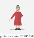 Grandma standing full length smiling 25905258