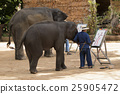Mahout trains wild elephant to paint picture  25905472