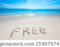 Free text on sandy beach 25907074