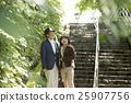 夫婦 石階 觀光 25907756