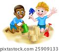 海滩 孩子 男孩 25909133