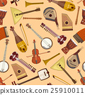 Vector pattern with musical instruments 25910011