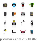 Camera and accessory icon set vector illustration 25910302