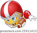 American football player emoticon 25911413