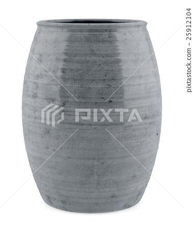 ceramic vase isolated on white background 25912104