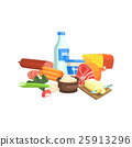 Farm Products Set Colorful Sticker 25913296
