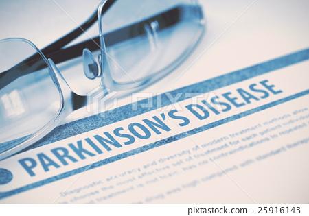 Parkinsons Disease. Medicine. 3D Illustration. 25916143