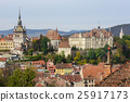 View over Sighisoara town, Romania 25917173