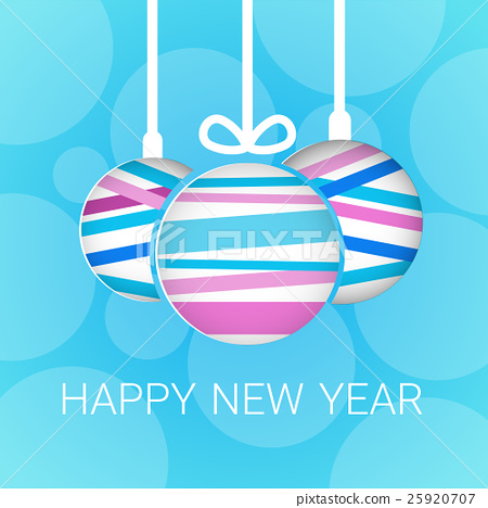 Happy New Year 2017 Banner Christmas Decorations Stock