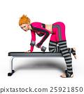 トレーニングする女性 25921850