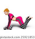 トレーニングする女性 25921853