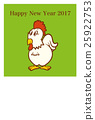 2017 New Year's card design material - illustration 25922753