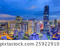 Aerial view of Bangkok modern office buildings 25922910