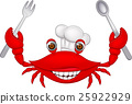 Crab chef cartoon 25922929