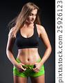 Young sportive woman posing 25926123