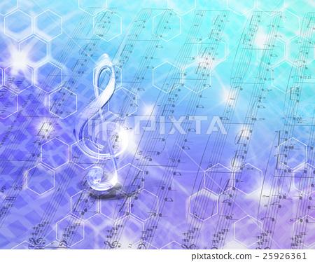 Internet space music distribution - Stock Illustration