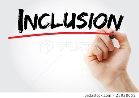 Hand writing Inclusion with marker 25928655