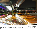junction, multi-level crossing, night scape 25929494